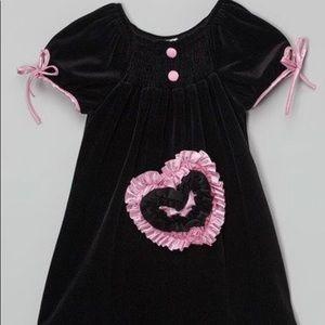 Other - Lele Vintage Black & Lilac Velvet Heart Pocket Dre